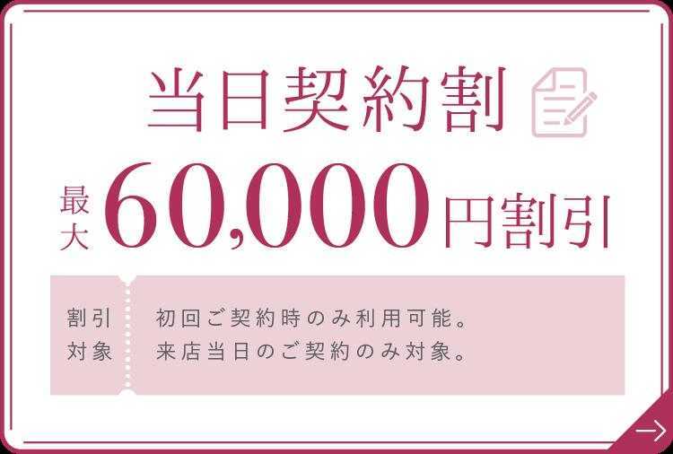 当日契約割 最大100,000円割引